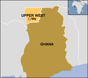 Upper West Region Map.png