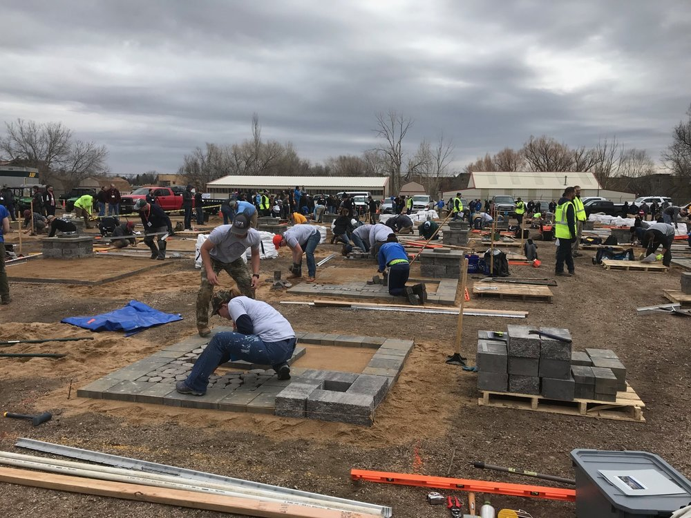 Hardscape installation! Our team qualified for the first time this year. In this contest, students have 1 hour and 50 minutes to install a patio.