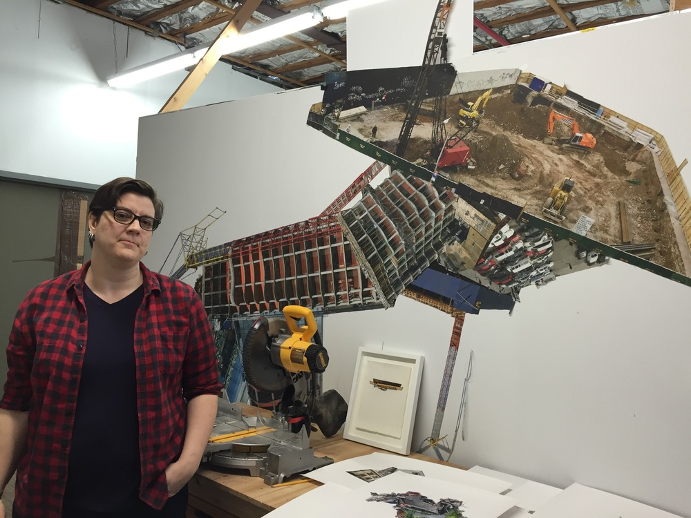 Jennifer Williams in her studio.