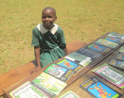 Shukurah at the school literacy day, she participated in the story reading test and she emerged among the winners.