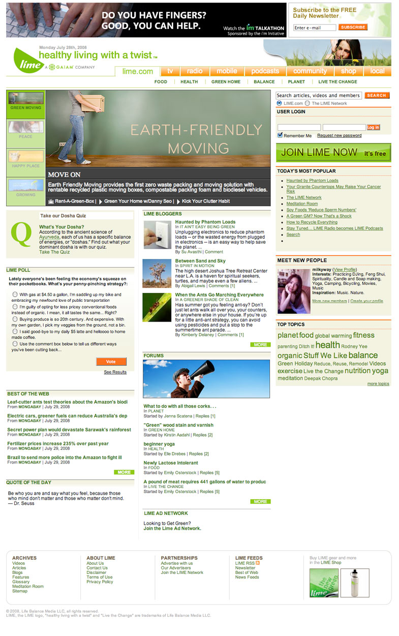 2007: Lime.com