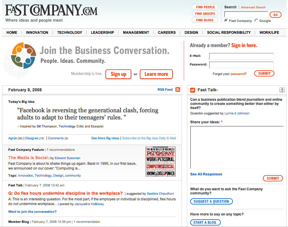 2008: FastCompany.com