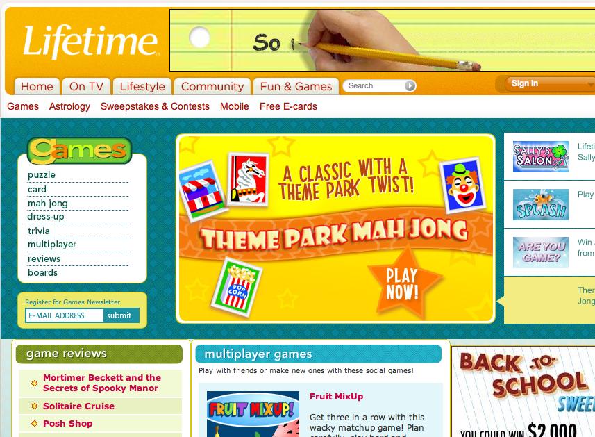 LifetimeTV.com Games