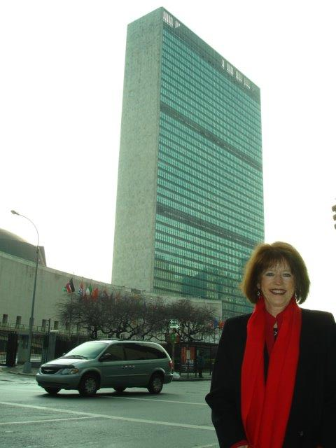 Terri at United Nations' headquarters in New York City