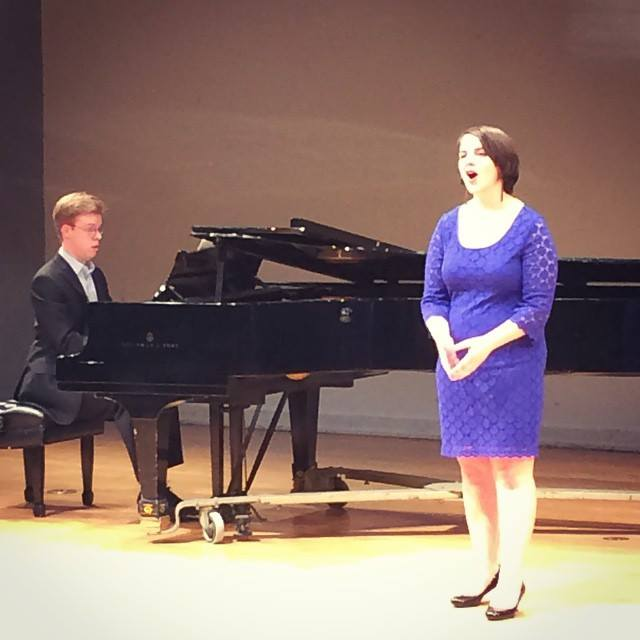 Senior voice recital at Sarah Lawrence College with accompanist Michael Maronich (Bronxville, NY)  Photo by Katie Lee