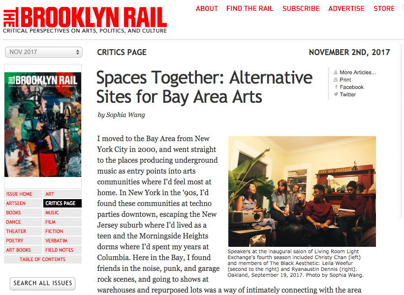 Spaces Together: Alternative Sites for Bay Area Arts