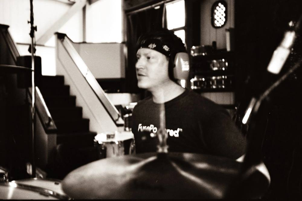Recording third full length album - 2015  Photo credit:  Owl 'N Tree Productions