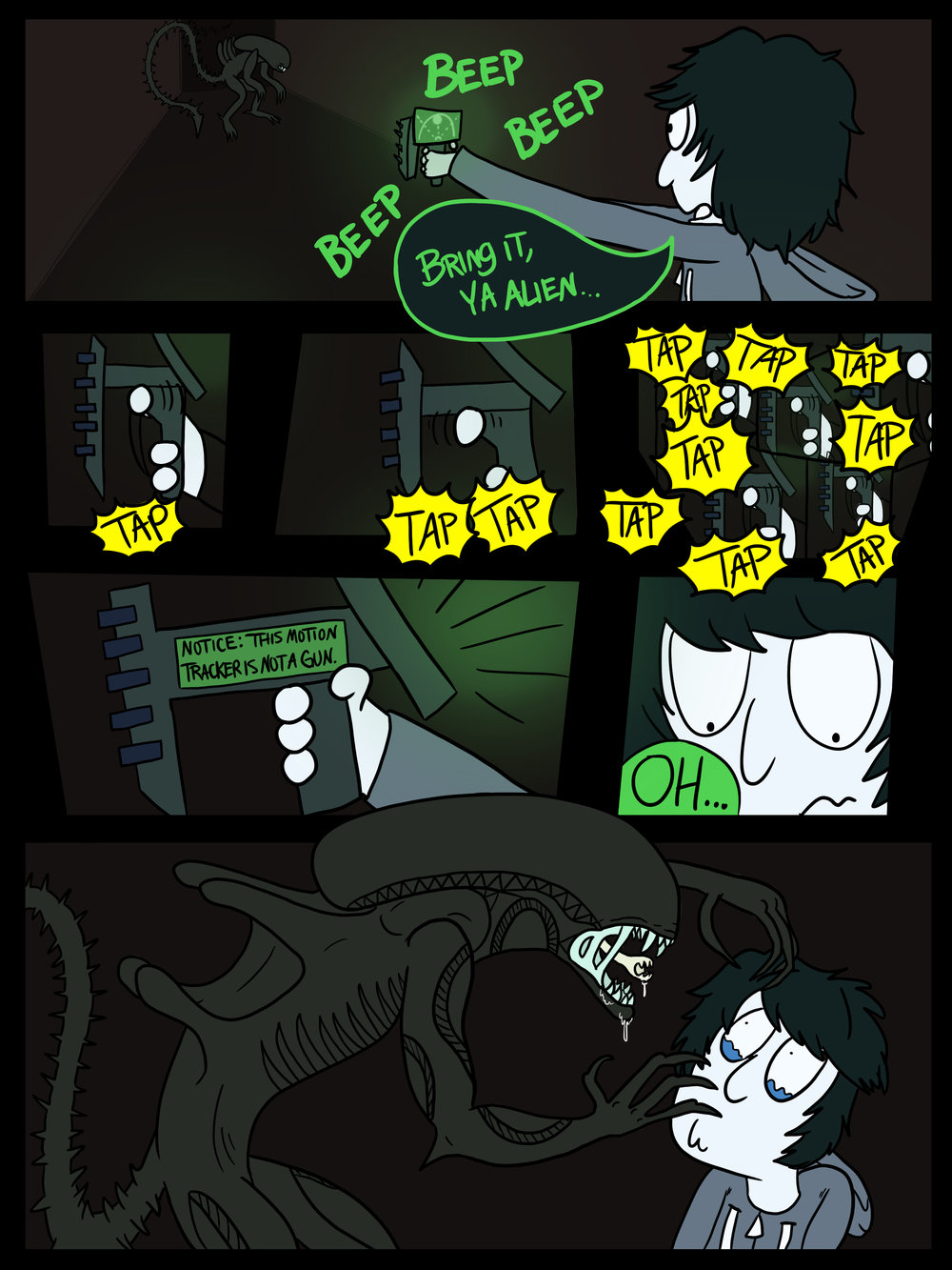Comic based off  Alien Isolation    Page 2