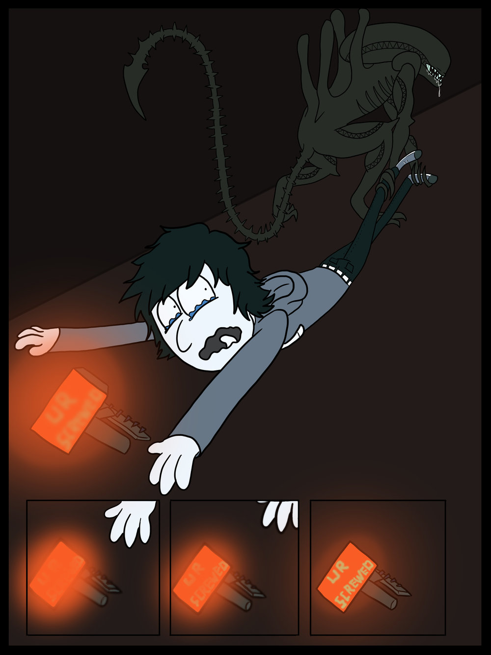 Comic based off  Alien Isolation    Page 3