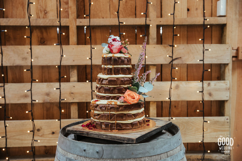 Peppermint Kitchen naked wedding cake