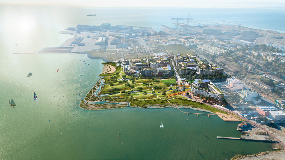 Aerial View from San Francisco Bay: Rendering by Steel Blue