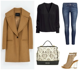 Zara, H&M, Sixty Seven, Olivia & Joy Wear a camel shade coat with a casual look with these pieces