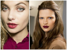 Photo courtesy of Louis Vuitton backstage. Switch up those bright lipsticks for darker shades.