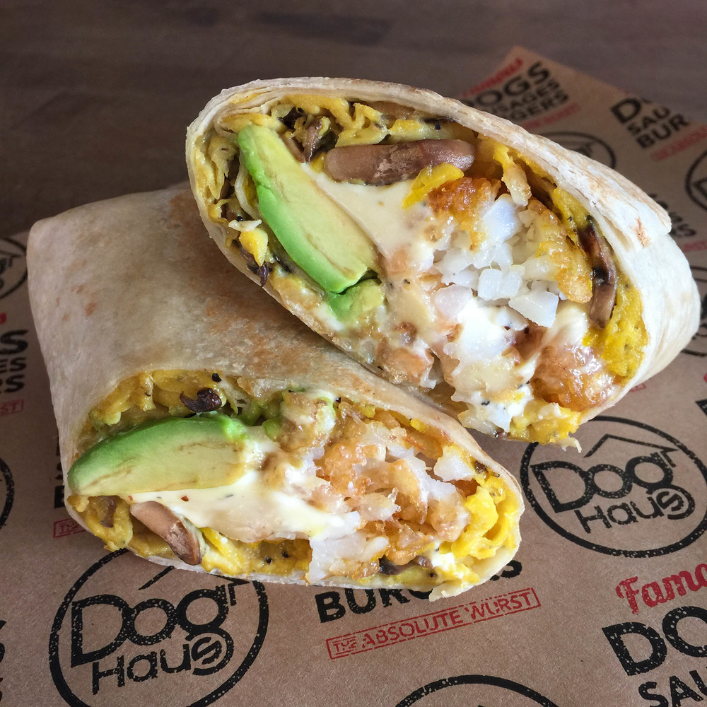 Veggie Breakfast Burrito - Photo courtesy of Dog Haus