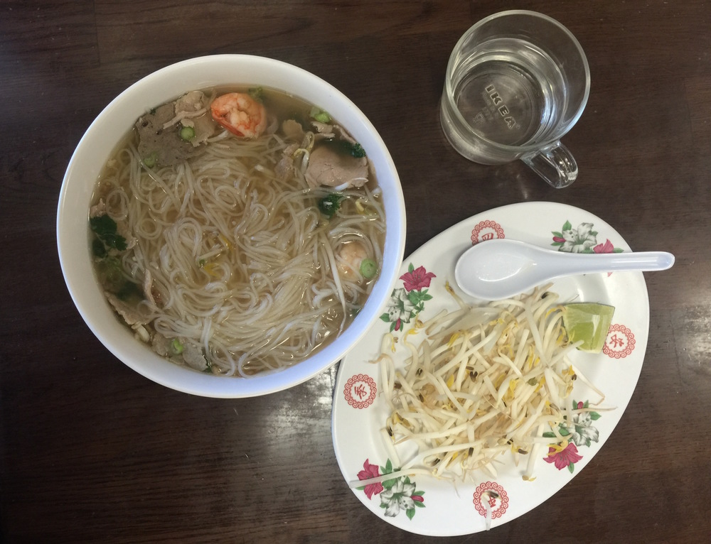 The popular Phnom Penh Noodle is often referred to as Cambodian pho, which is a popular favorite at Phnom Penh Noodle Shack.