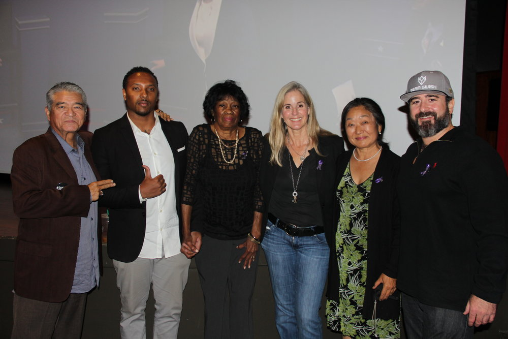 "From left: Josof ""Jojo"" Sanchez, Kevin Maxwell, Cora Maxwell, Pam Rayburn, Julie Matsumoto and David Field. Photo courtesy of the Department of Women's Gender and Sexuality Studies."