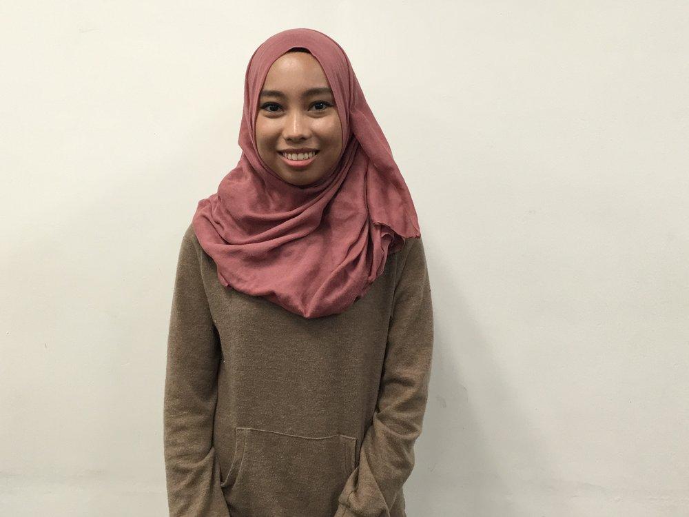 Nur Aaliaa Ayuri Rujhan, 21, liberal studies major