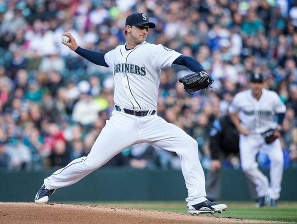 Chase De Jong, Pitcher.  Photo credit: Elaine Thompson.