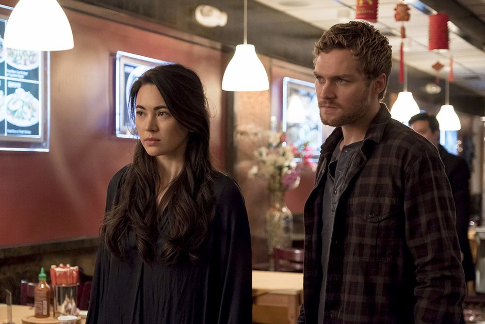 Jessica Henwick and Finn Jones in  Iron Fist .  Photo Credit: IMDB