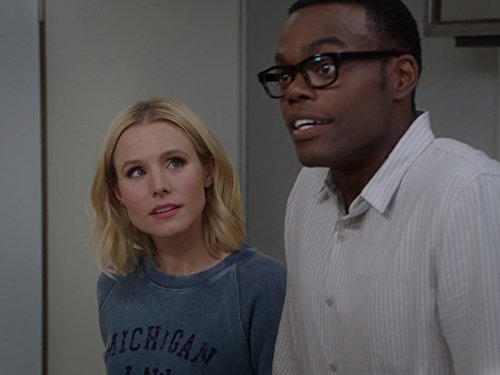 Kristen Bell and William Jackson Harper in The Good Place.  Photo Credit: IMDB