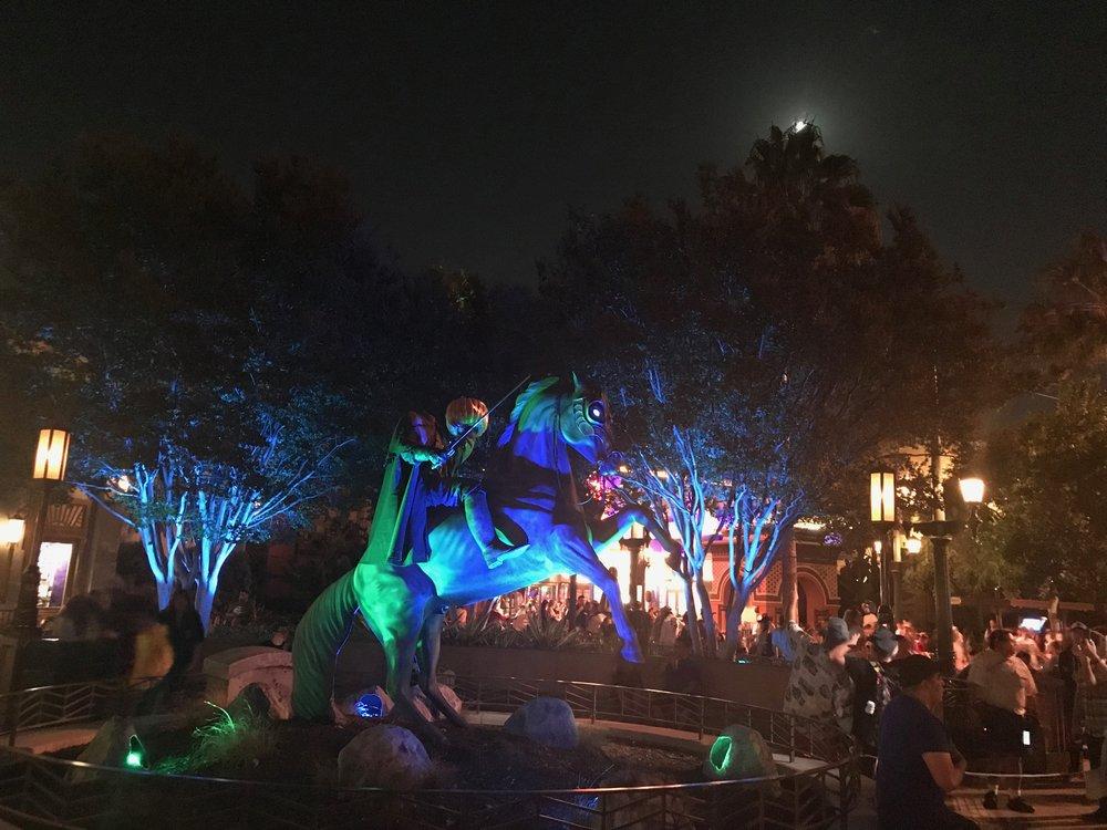 Headless Horseman at Disney California Adventure  Photo Credit: Zachary Anderson-Yoxsimer