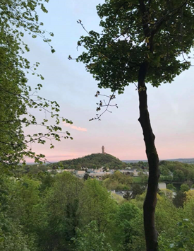 Photo: Natalie Young  A view of The Wallace Monument in Stirling.