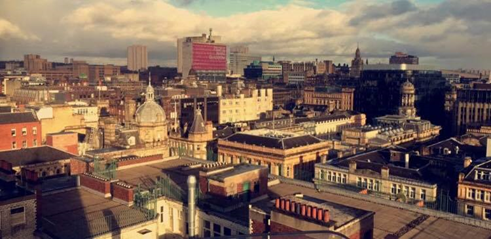 Photo: Natalie Young  Glasgow Rooftops. A view from 'The Lighthouse' – Scotland's center for Design and Architecture.