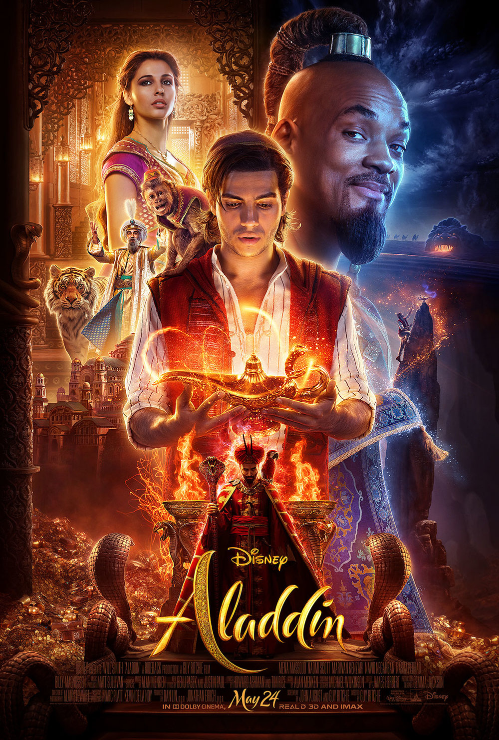 "MAY 24 - Aladdin is one of the most anticipated films of the summer. Will Smith takes on the role of the Genie, who the late Robin Williams had made an iconic and beloved character in the animated version. As the trailer gives us a peak on what to expect from the remake, the captivation is far from gone. You can hear snippets of the mesmerizing original song ""A Whole New World"" and see the legendary magic carpet as you enchant yourself with all the magic that is Disney's Aladdin."
