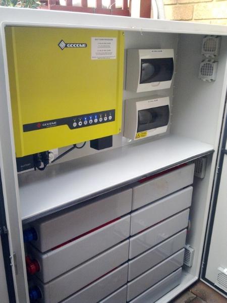 Inside battery cabinet