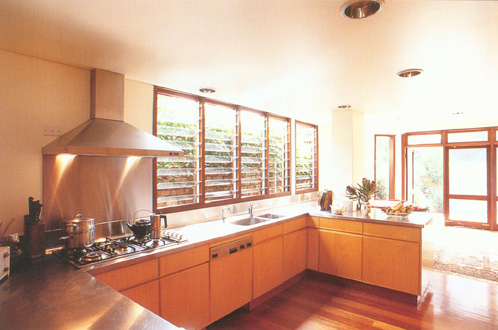 The kitchen in Sydney's Sustainable House