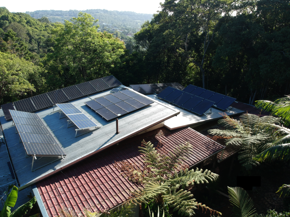 Solar panels on Mike Haydon's house, Lismore, NSW