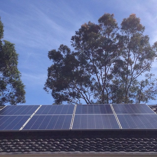 8 panels on each side of our house to maximise the sun throughout the day