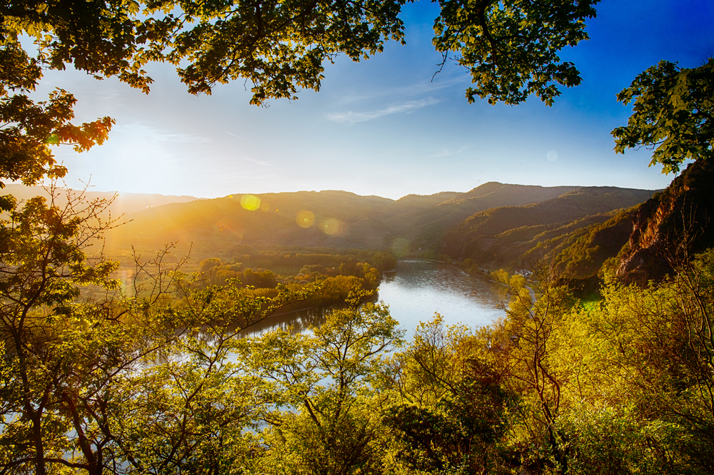 Sonnenuntergang Wachau