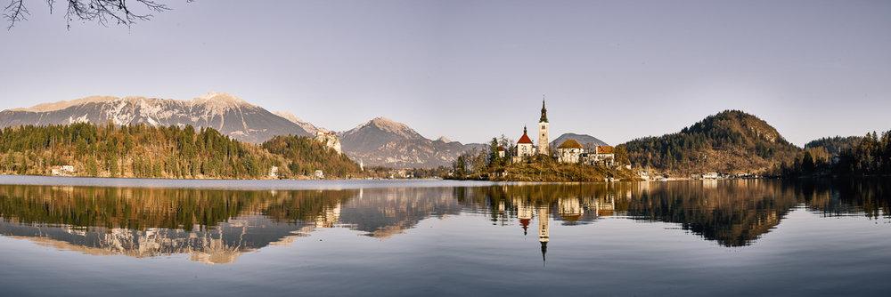 Landschaftsfotos Bled am See