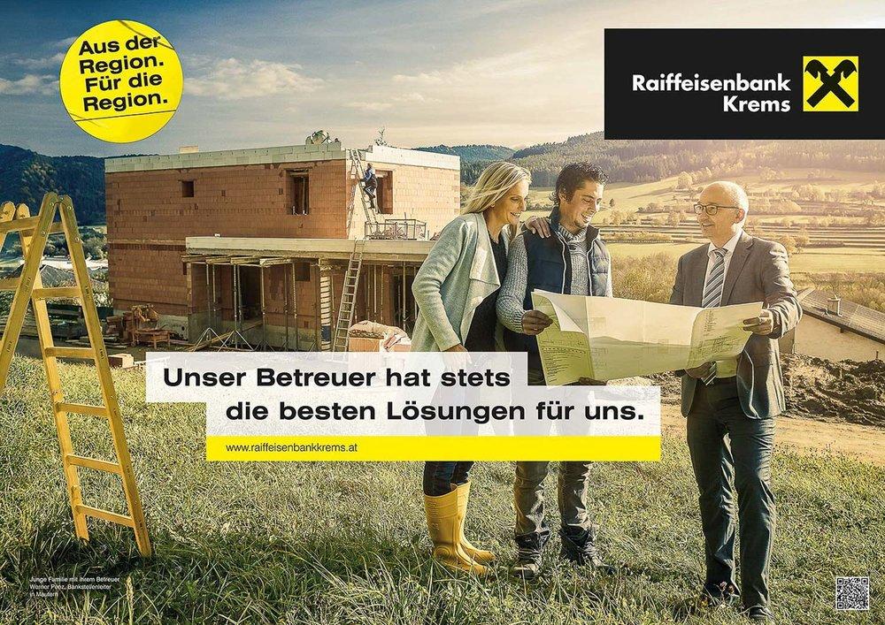 Werbekampagne Raiffeisenbank Niederösterreich