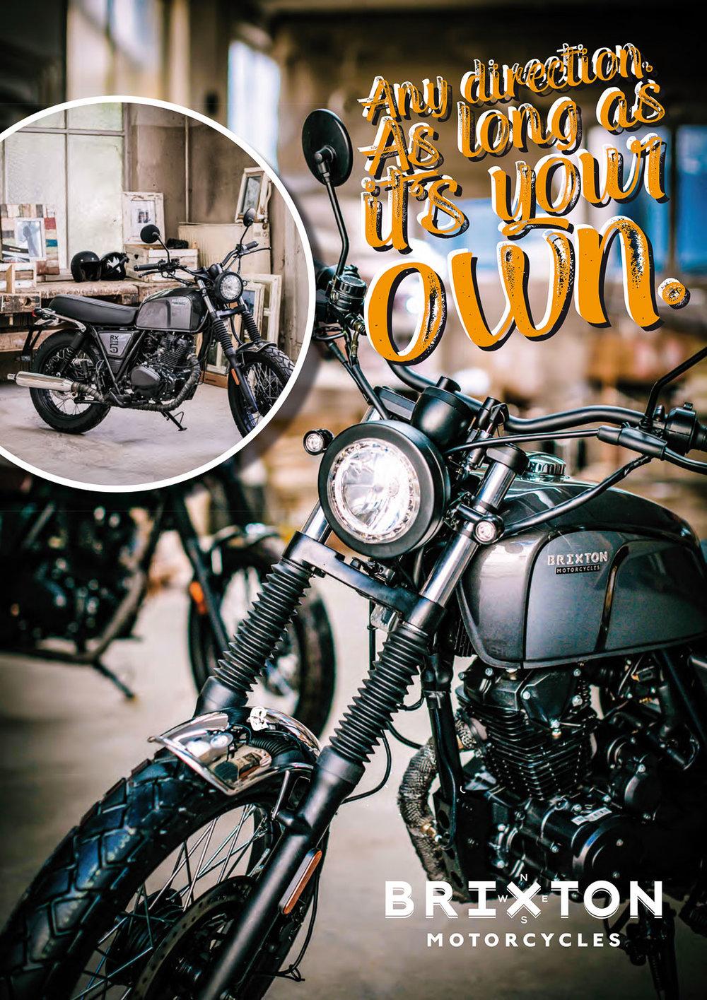 Werbung Brixton Motorcyle Fotograf