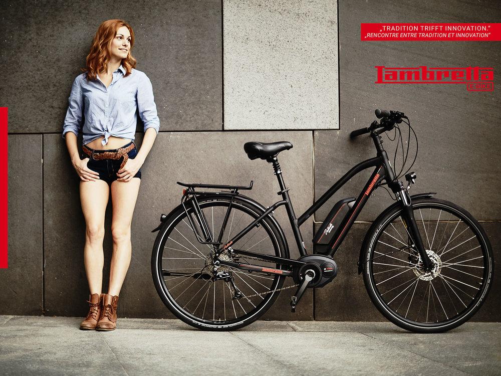 Werbekampagne Lambretta E -Bike