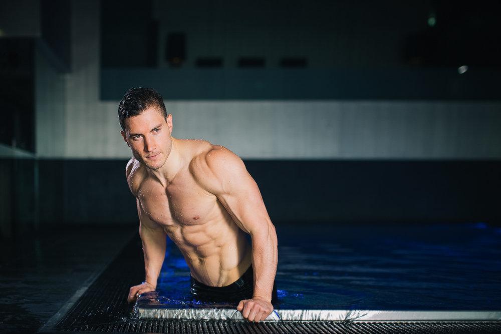 Portrait Schwimmer - Imagekamapgne Wien
