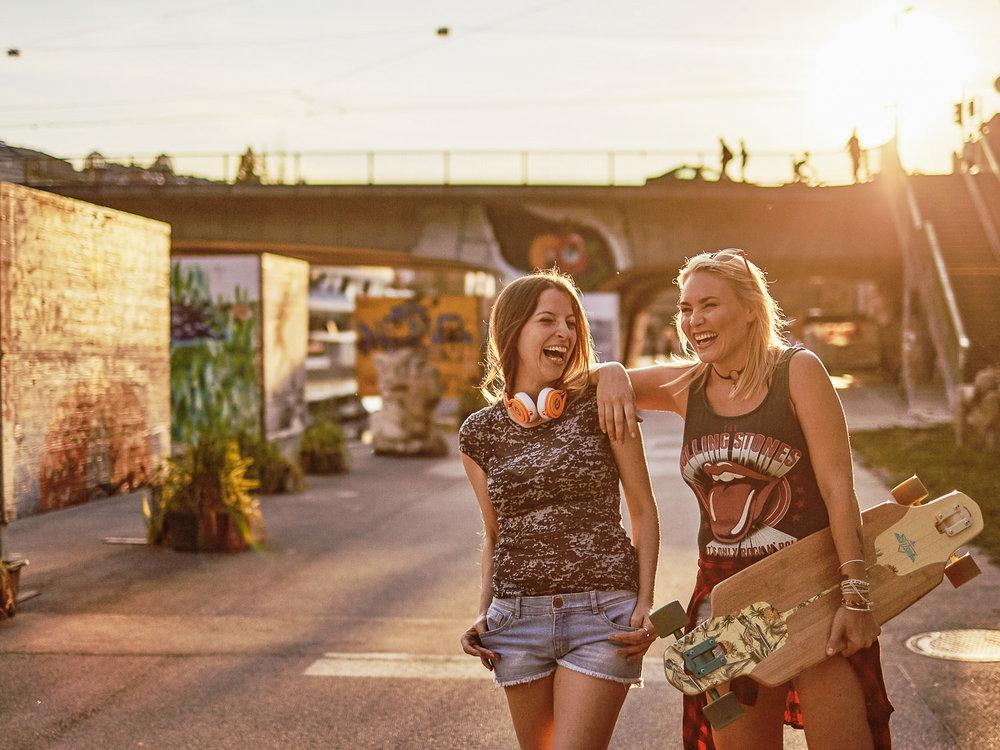 Imageserie Longboard Wien - Lifestyle