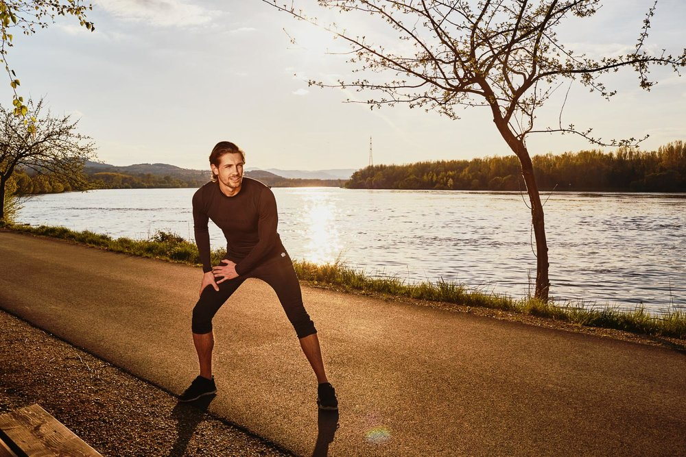 Jogging Donau Niederoesterreich - Imagefotos