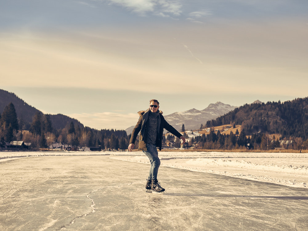 Eislafen Weißensee - Imagebilder