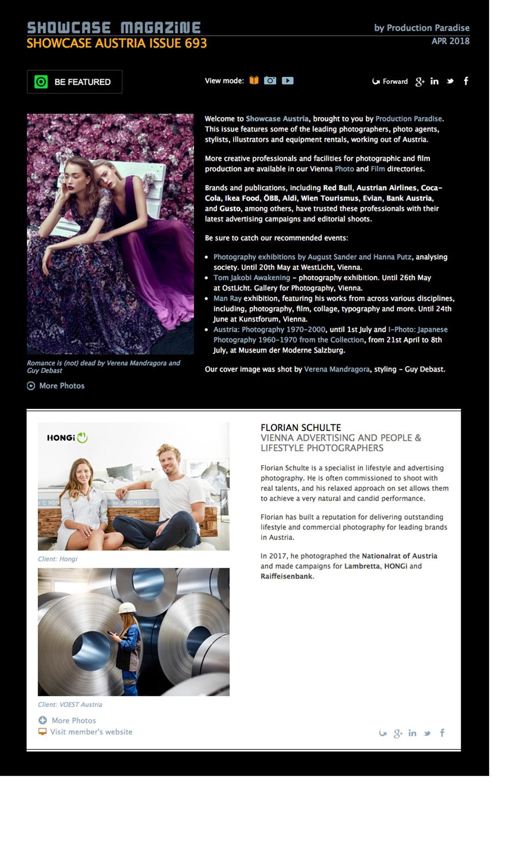 Der Newsletter von Production Paradise ist draußen. Beitrag ist hier zu finden  SHOWCASE