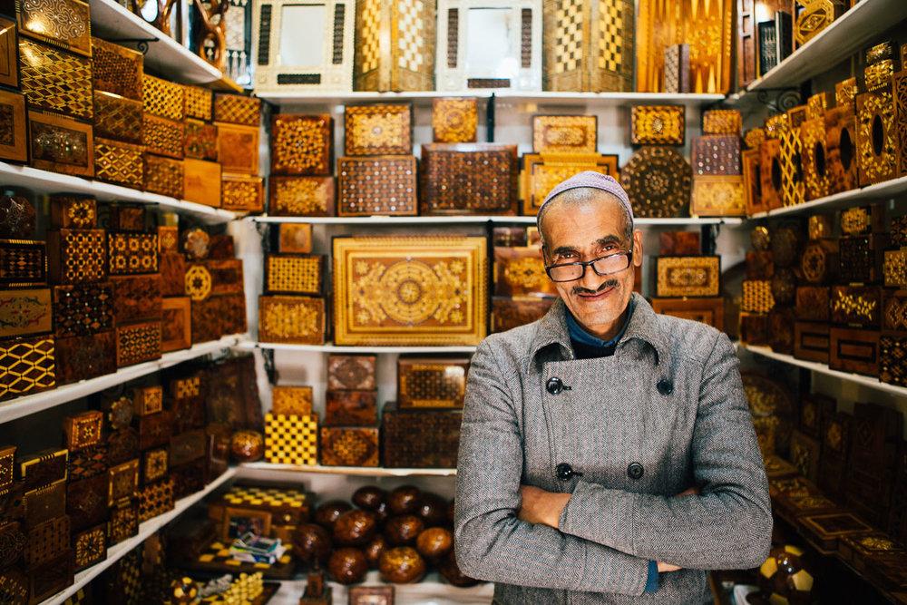 Dealer in the souks of Marrakech