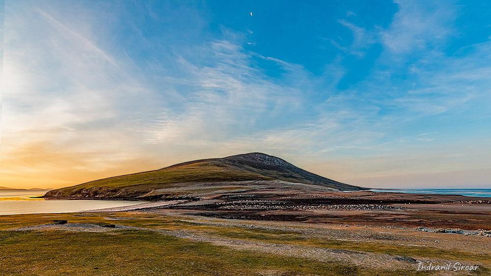 """Sunset at """"The Neck"""" Saunders Island, Falkland Island"""