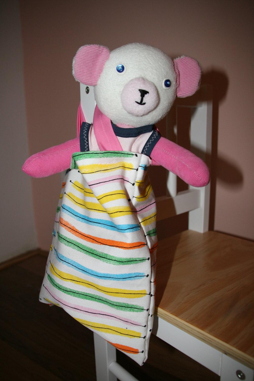 Terezka can take her teddy anywhere:)