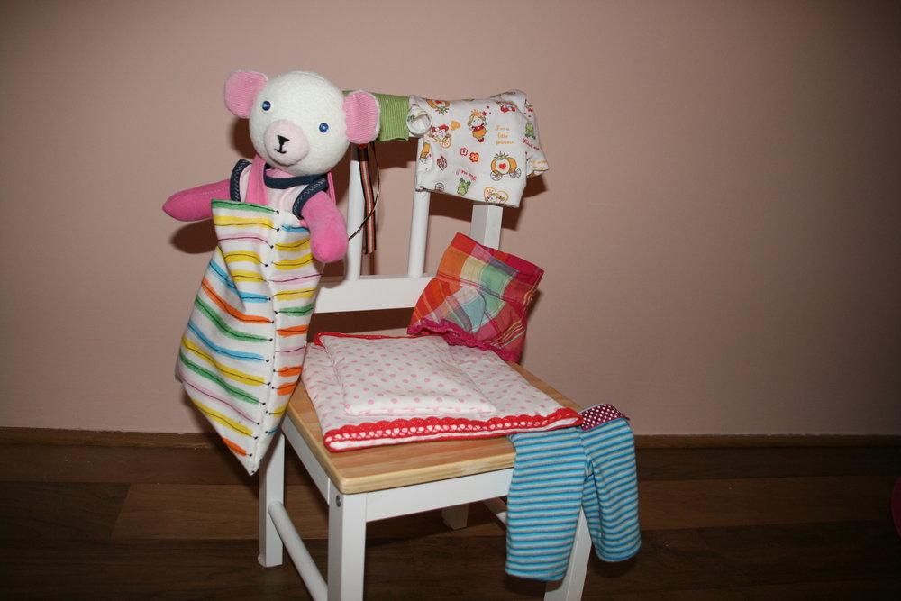 The complete wardrobe:)