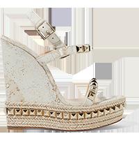 Cataclou 140 embellished cork wedge sandals Christian Louboutin /NET-A-PORTER £495