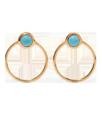 Gold-tone turquoise hoop earrings IAM by Ileana Makri / Net-a-Porter £225