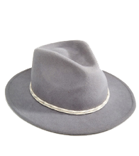 FEDORA WITH CONTRAST TWISTED COTTON BAND BRIXTON / ASOS £60