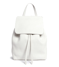 MINI TUMBLED LEATHER BACKPACK MANSUR GAVRIEL / LANA CRAWFORD £550